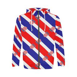 Croatia All Over Print Full Zip Hoodie For Men Model H14 Viva