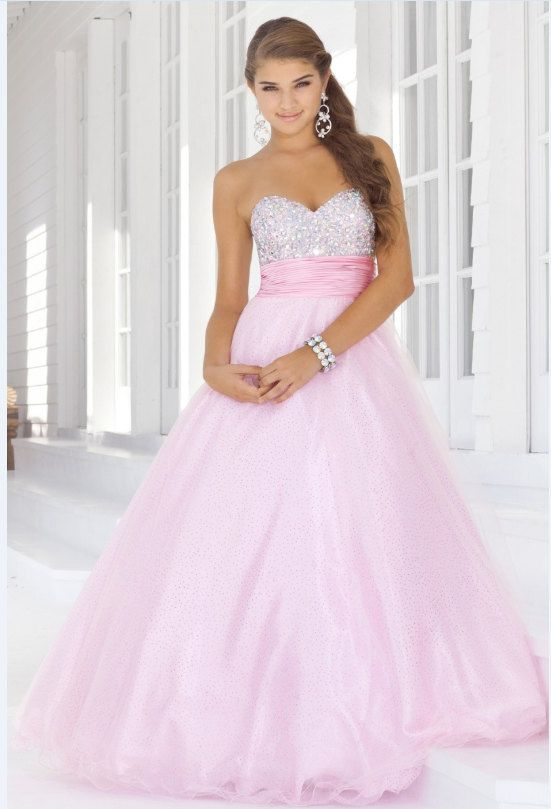 Fashion Empire Ball Gown StraplessLong prom dresses Quinceanera ...