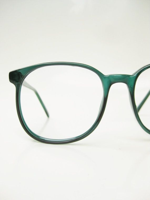 85aa7144e1 Vintage Green Eyeglasses 1970s Oversized Round by OliverandAlexa ...