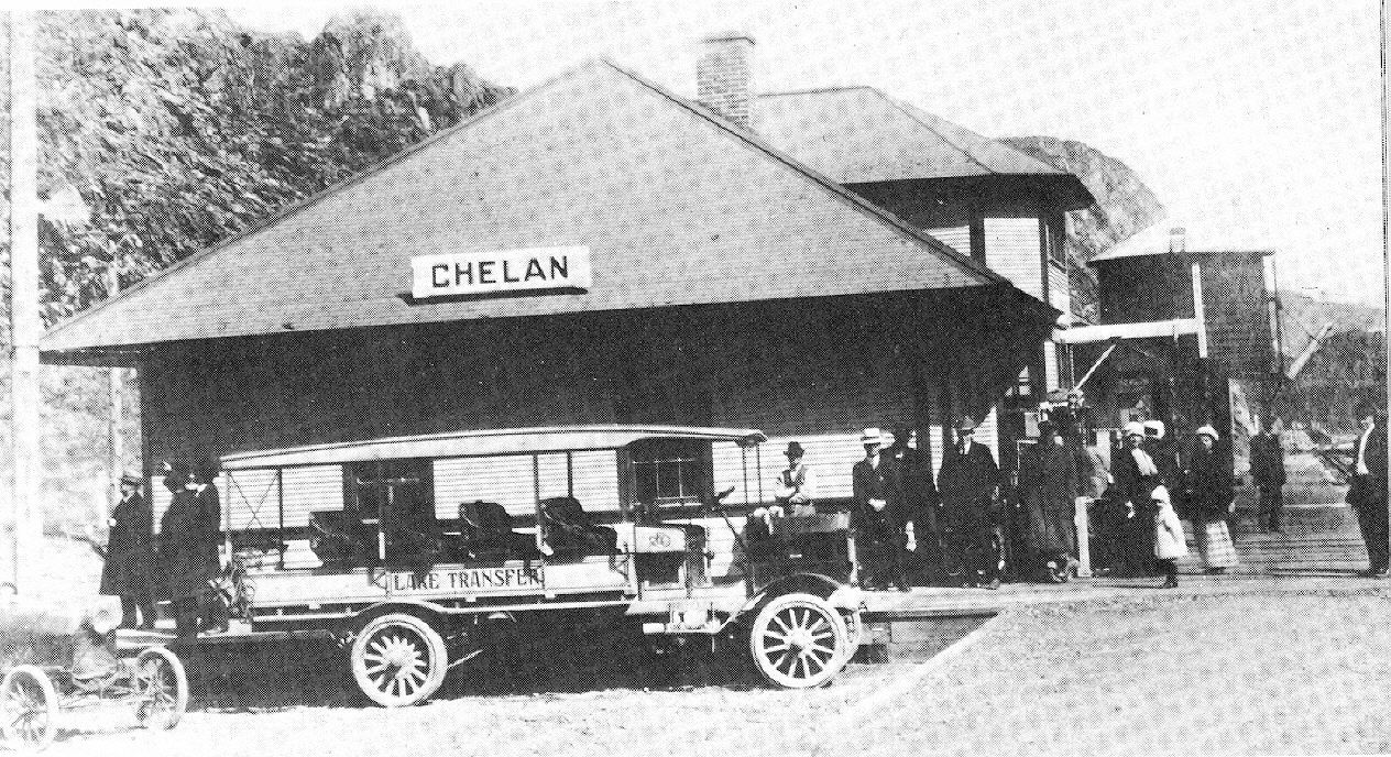Chelan wa pic from 1918 train depot old train old trains