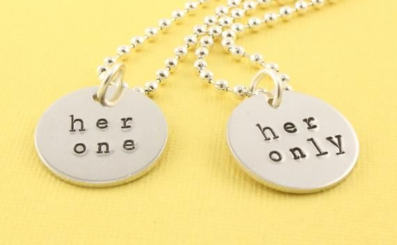 c50cac7f0e Her One Necklace - Her Only Necklace - Couples Necklaces - Best Friends  Necklaces - LGBTQ Necklaces