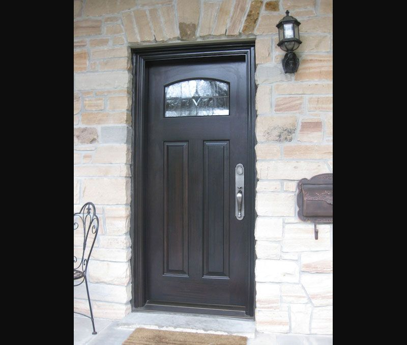 a custom designed amberwood handcrafted wood door is the focal point that will change the entire image and mood of your home - Single Exterior Doors