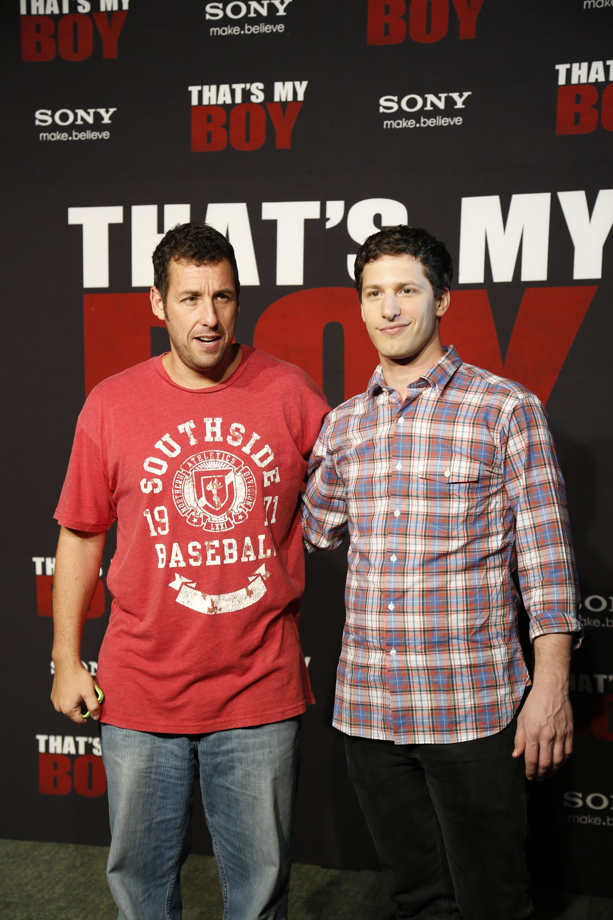 Adam Sandler and Andy Sanberg, stars of That's my boy