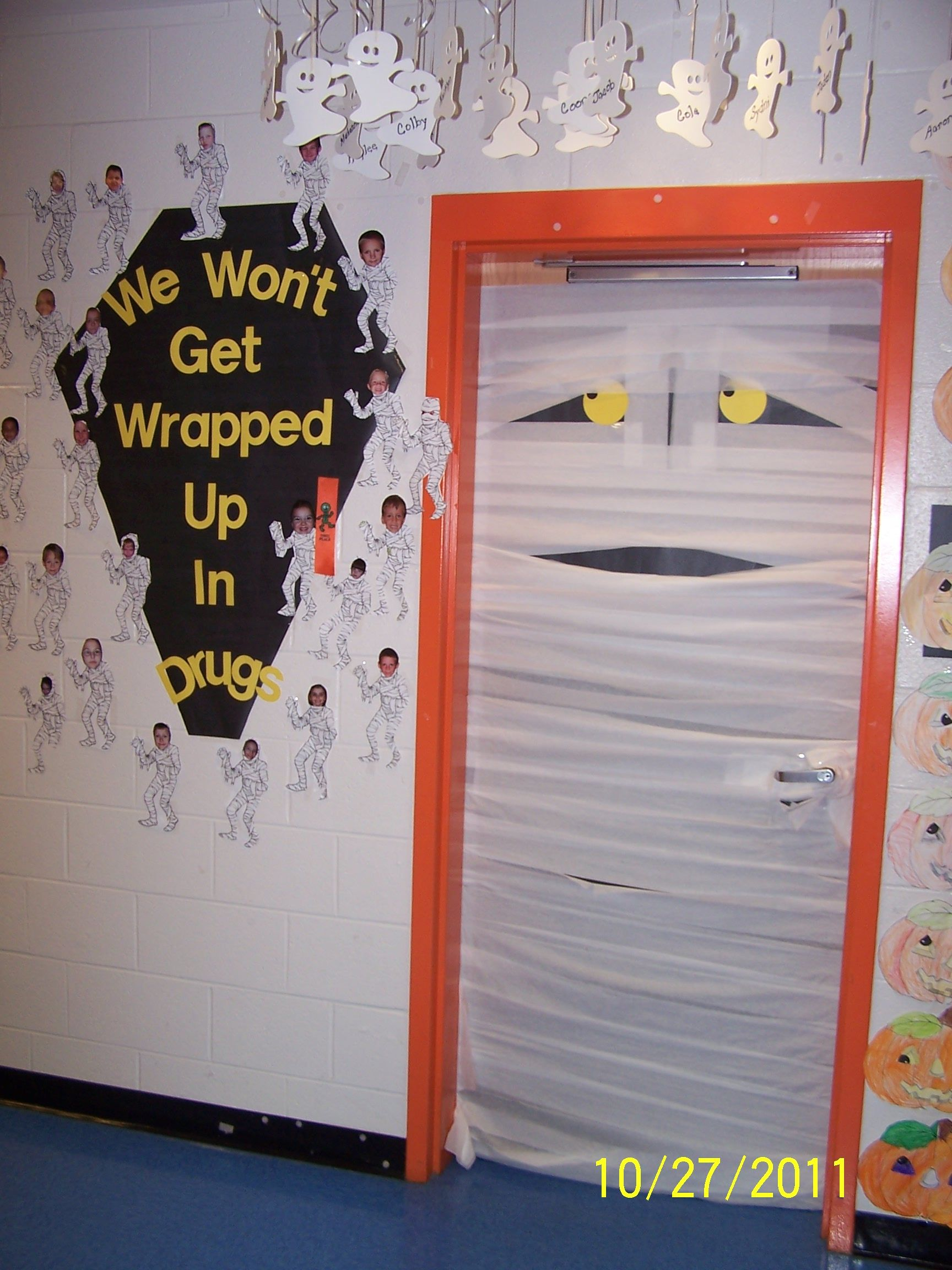Mummy Door Kindergarten School Door Decorations Red Ribbon Week Door Decorations Classroom
