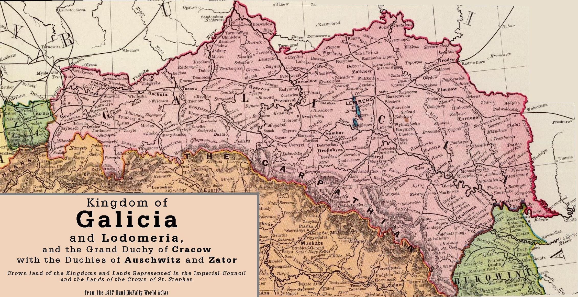 Galicia 1897 1 - Kingdom of Galicia and Lodomeria ... on second polish republic, europe poland map, ukrainian greek catholic church, czechoslovakia poland map, lviv poland map, kingdom of galicia and lodomeria, duchy of warsaw, hungary poland map, lodz poland map, gdansk poland map, warsaw ghetto poland map, mazovia poland map, kingdom of poland map, china poland map, jaworzno poland map, russia poland map, estonia poland map, sweden poland map, turkey poland map, pale of settlement, carpathian mountains, katowice poland map, wwii poland map, germany poland map, poznan poland map, lublin poland map, carpathian ruthenia,