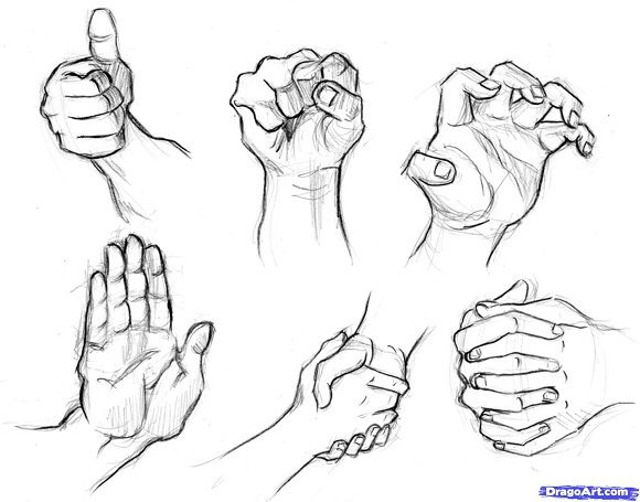 Best Collection of Step by Step Tutorials on How to Draw Hands ...