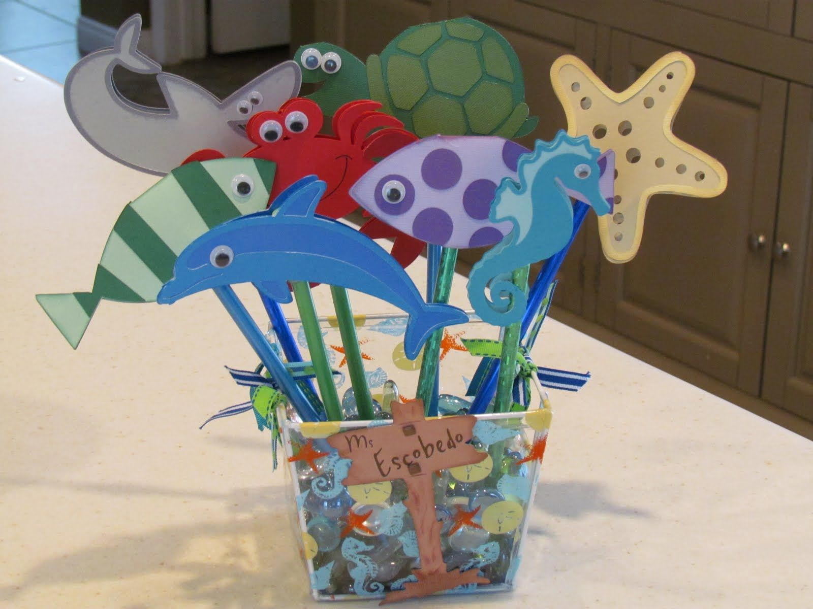 Under The Sea Pencil Toppers