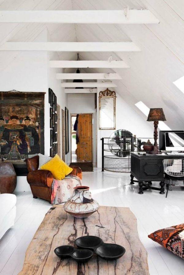 wohnzimmer vintage einrichtung rustikaler couchtisch Allerlei - wohnzimmer retro style