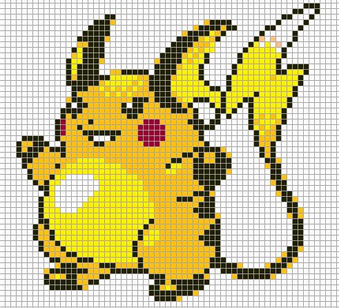 Raichu By Hama Girl Pokemon Cross Stitch Stitch Character