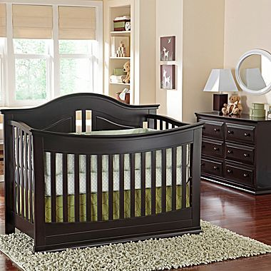 Best Brown 3 Piece Furniture Set Crib Converts To Toddler Bed 640 x 480