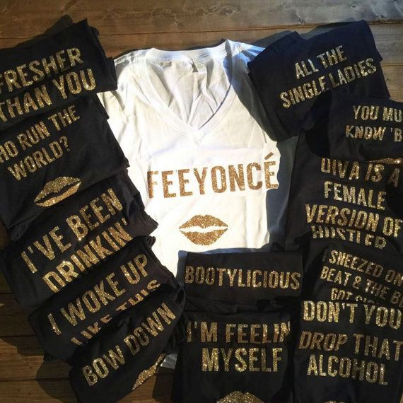 Queen b beyonce shirts bachelorette shirts bridesmaid by for Novelty bride wedding dress t shirt