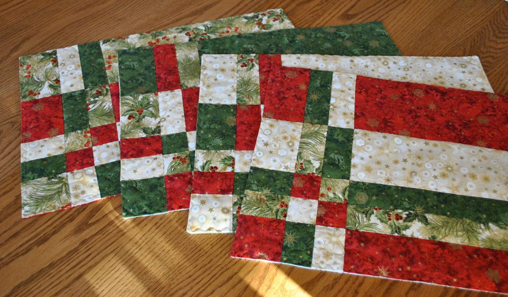 Festive Christmas Placemats Set Of Four Via Etsy
