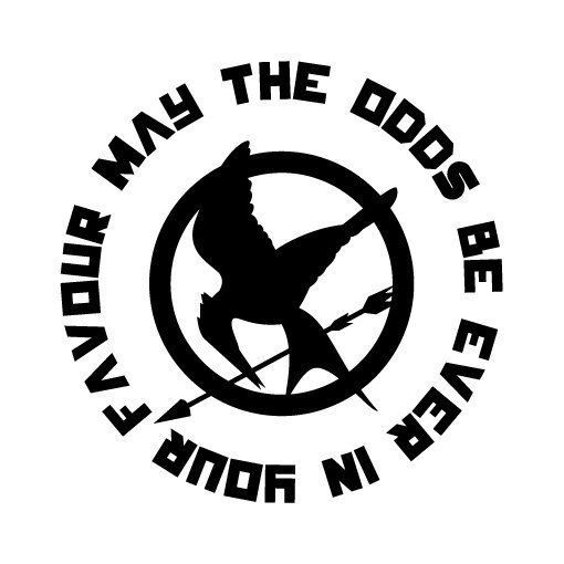 May The Odds Be Ever In Your Favor Hunger Games Vinyl Decal For - Custom vinyl decal application instructionsapplication etsy