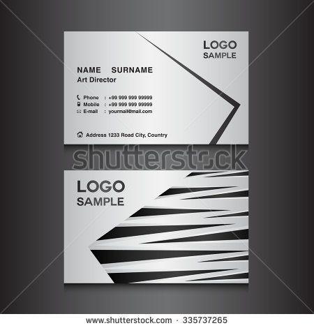 silver Business card design template vector illustration