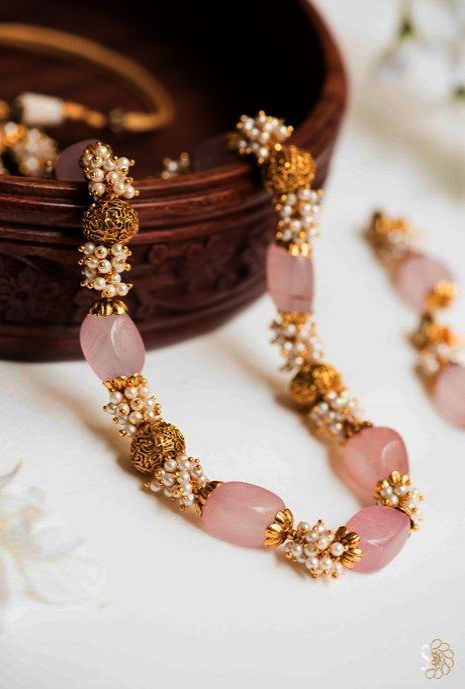 Jewellery Cabinet Some Gold Jewellery Hallmark India Before Gold Jewellery Time Jewellery Brand Pink Bead Necklace Gold Jewelry Fashion Jewelry Design Necklace