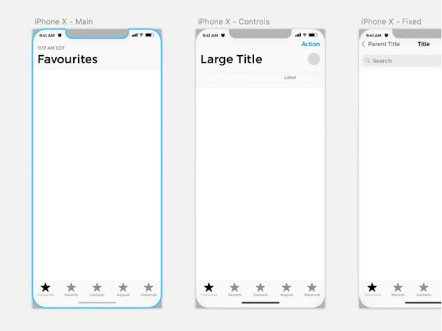 iPhone X Wireframe Kit was designed by Zeeshan Javaid