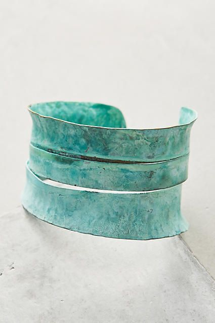 Sliced Patina Cuff #anthrofave