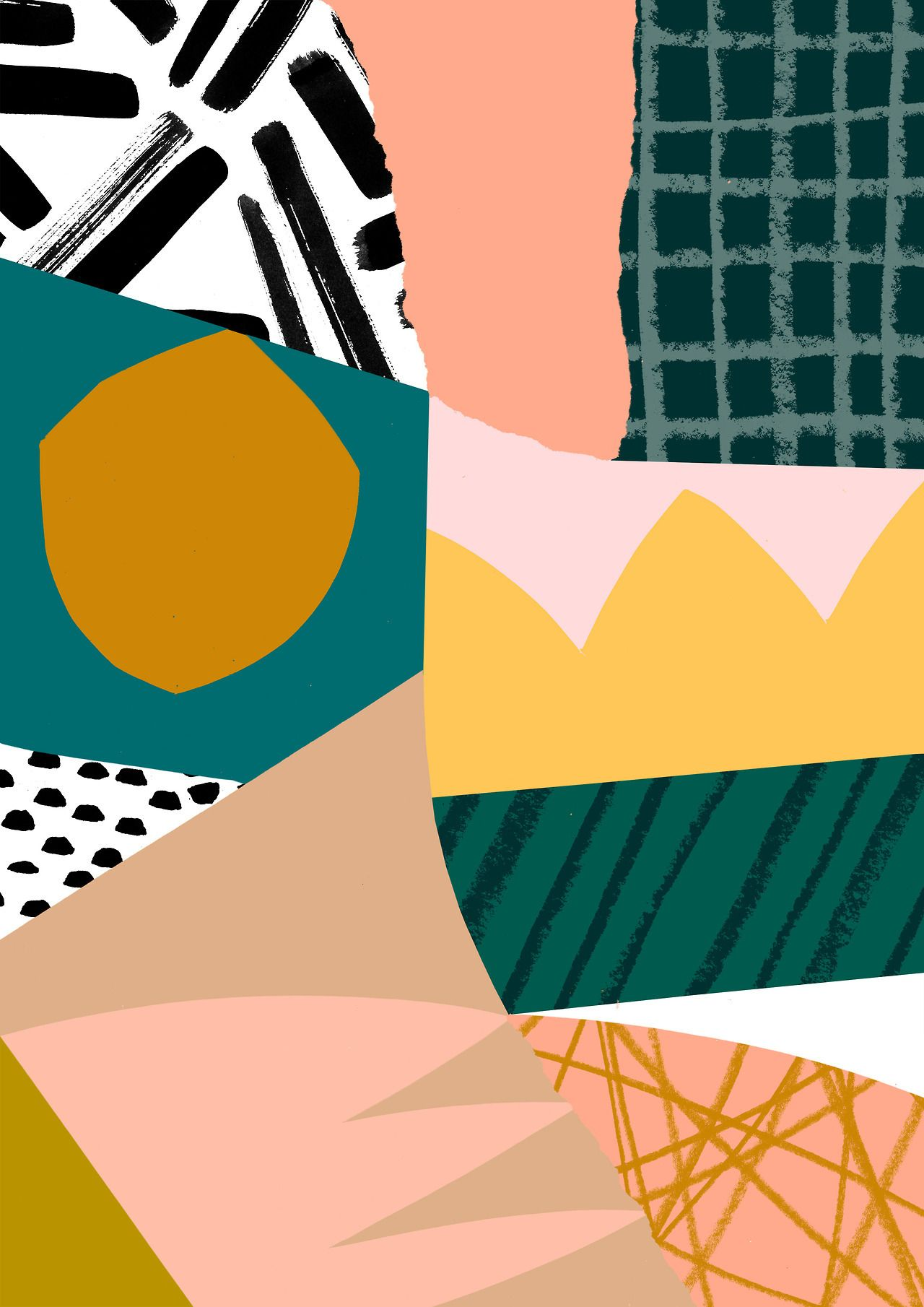 Design Entry For Slowdown Studio S Blanket Competition Abstract Art Design Collage Contemporary Abstract Cute Patterns Wallpaper Abstract Prints