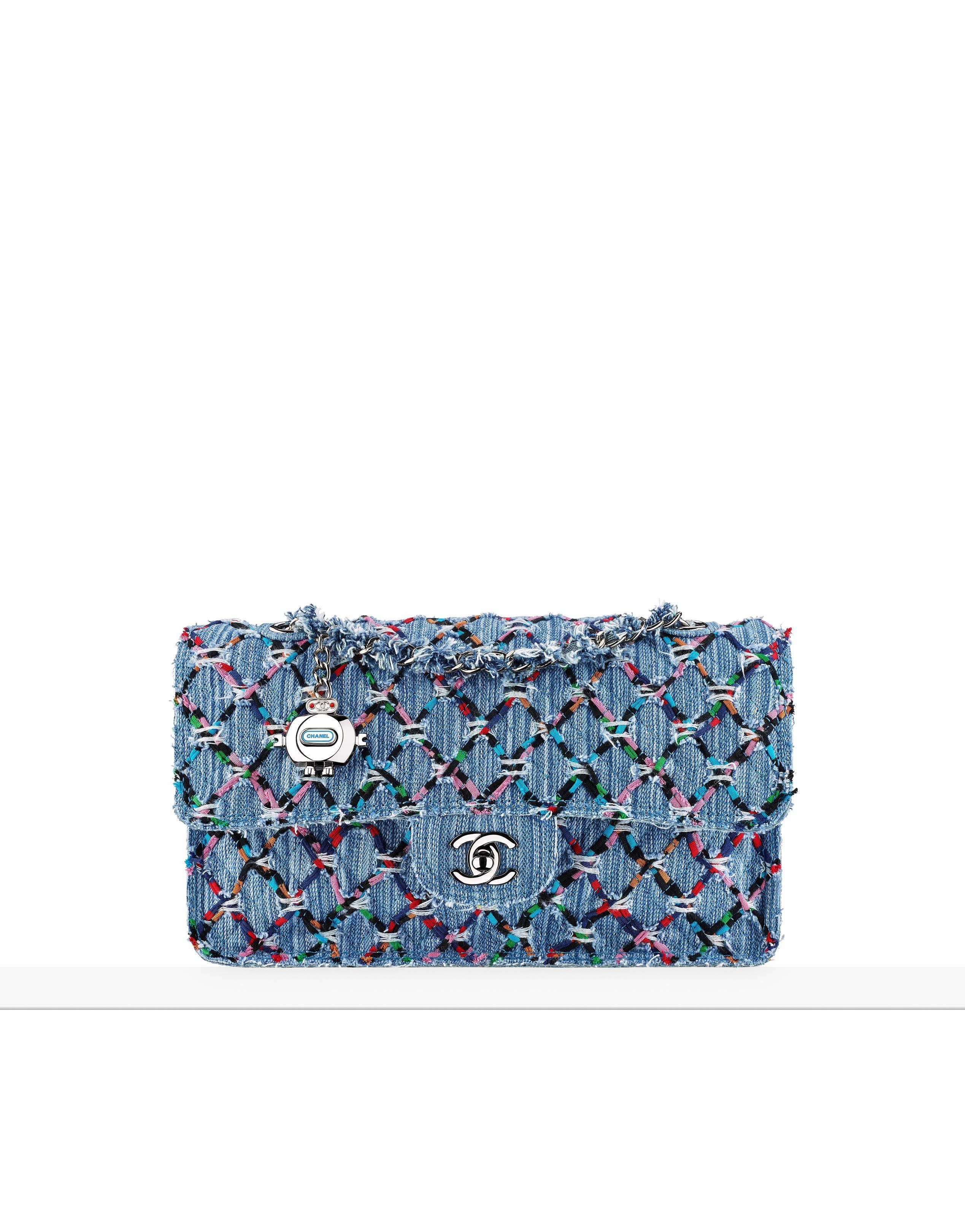 a07d4da99825 Spring-Summer 2017 - woven denim tweed bag chanel   Chanel in 2019 ...