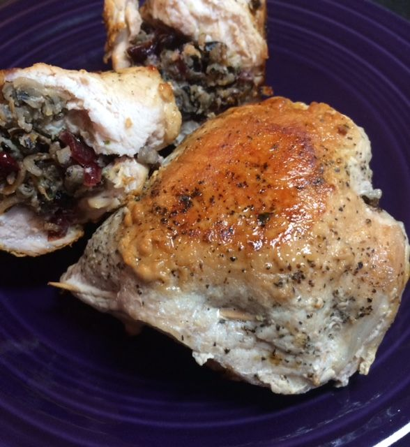 With fall right around the corner, literally...my food choices are turning  more into oven oriented than grill. I had some pork chops on h...