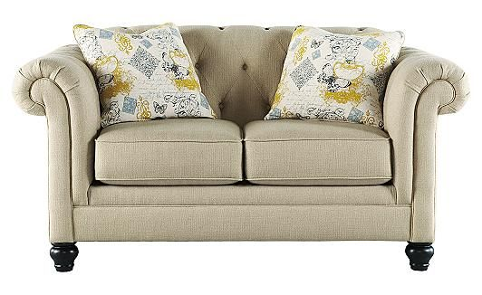 Hindell Park   Putty Loveseat Ashley Furniture