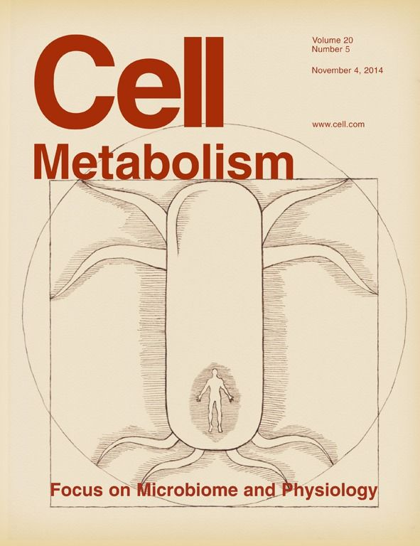 Cell Metabolism Microbiome cover on Behance
