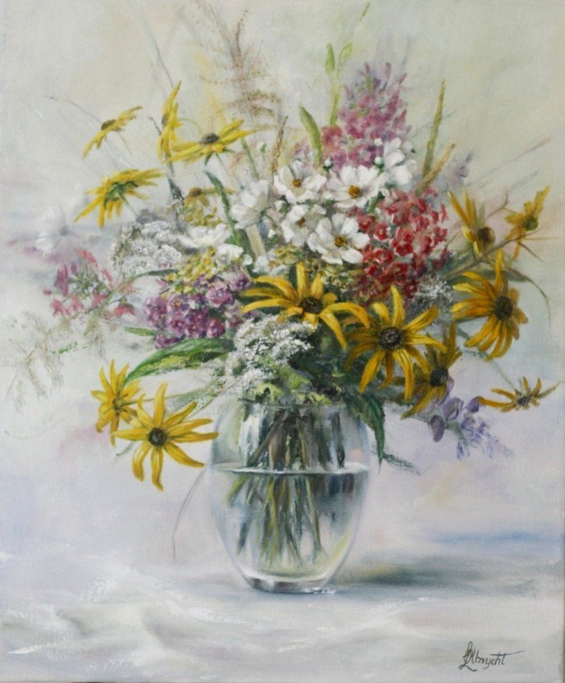 By Lidia Olbrycht Poland Flower Painting Beautiful Art Paintings Flower Art