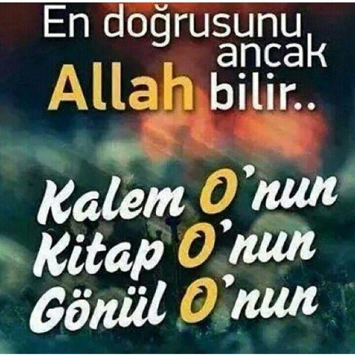 ALLAH BİLİR....
