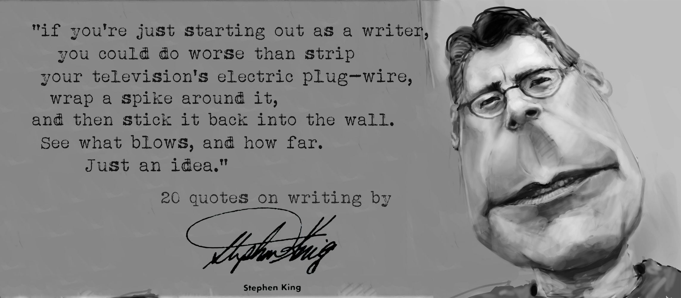 stephen king's 20 quotes on writing | quotes for writers and readers