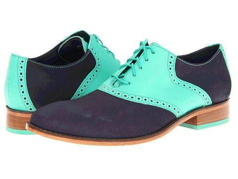 Dark Blue Saddle Shoes