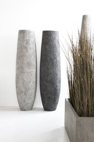 Tall Textured Vases And Gres Evessa Indoor Outdoor With Drainholes Lots Of Sizes Available 70 Paper