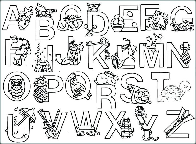 Printable Alphabet Coloring Pages Collection - Free Coloring Sheets Alphabet  Coloring Pages, Abc Coloring Pages, Alphabet Poster