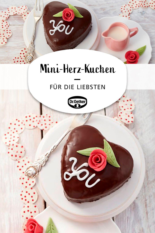 Mini Herz Kuchen Rezept In 2020 Kuchen Ohne Backen Herzkuchen Valentinstag Backen