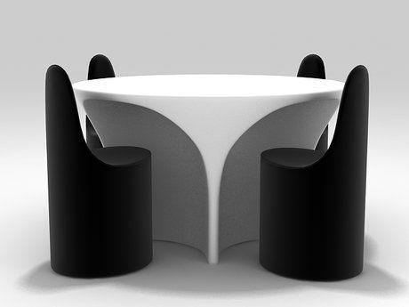 Frighetto by Estel Partners Landscape Table 3d model   Ross Lovegrove