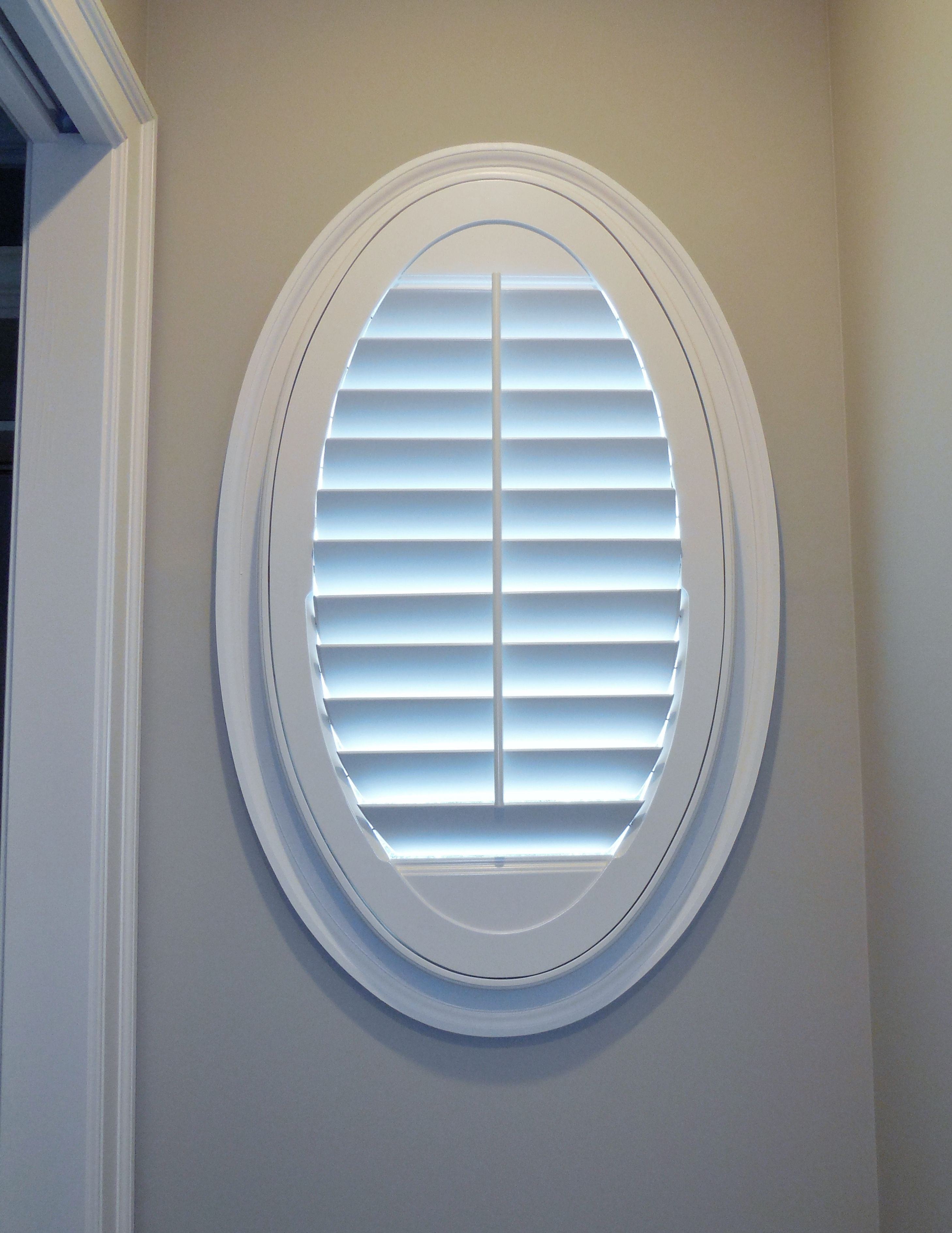 Shutters Are Great For Specialty Windows Here We Did Oval