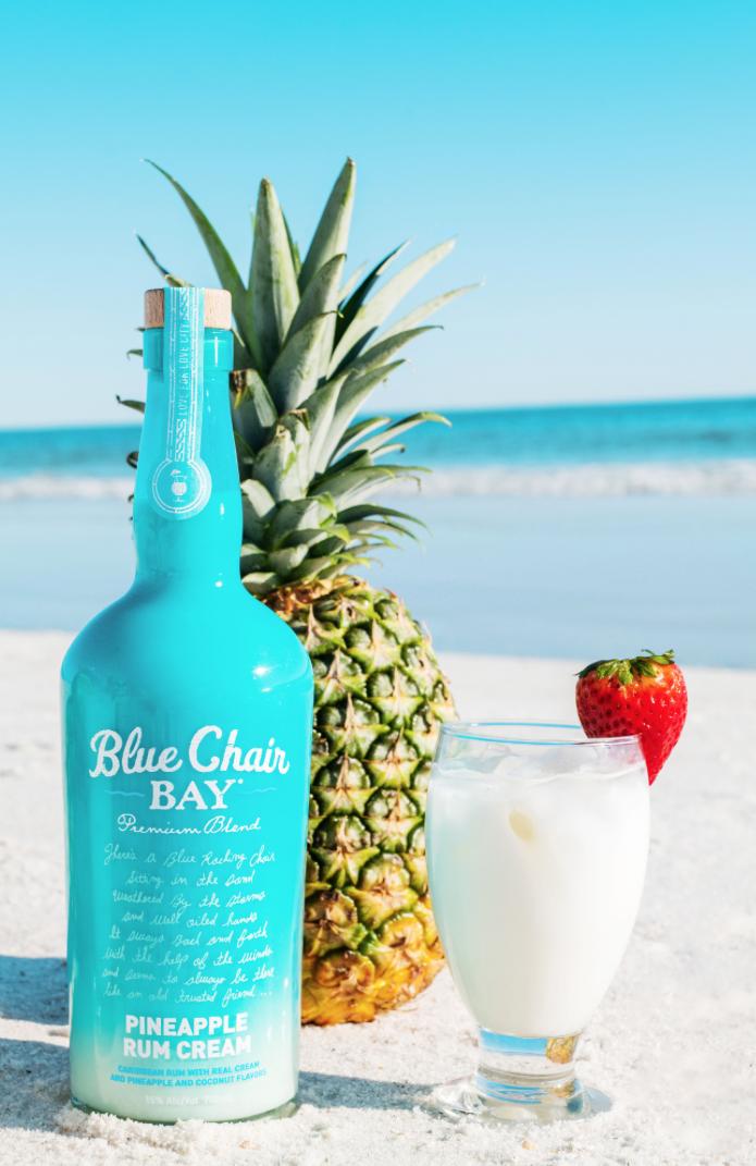 1.5 oz. Blue Chair Bay® Pineapple Rum Cream .25 oz. Monin