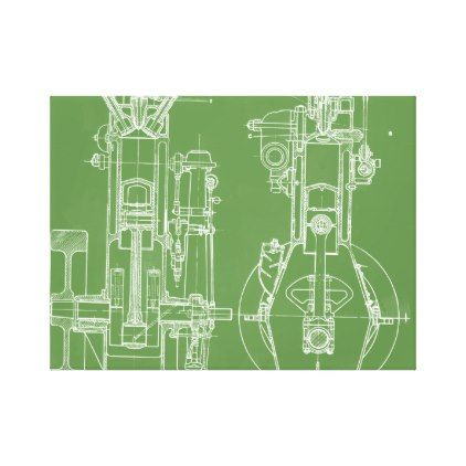Mechanical drawing vintage blueprint white custom canvas print mechanical drawing vintage blueprint white custom canvas print antique gifts stylish cool diy custom malvernweather