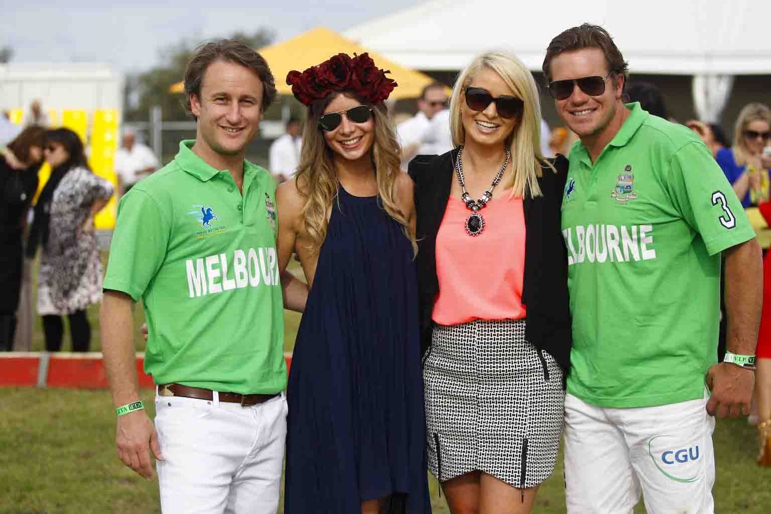 Polo players and guests at Polo by the Sea, Gold Coast