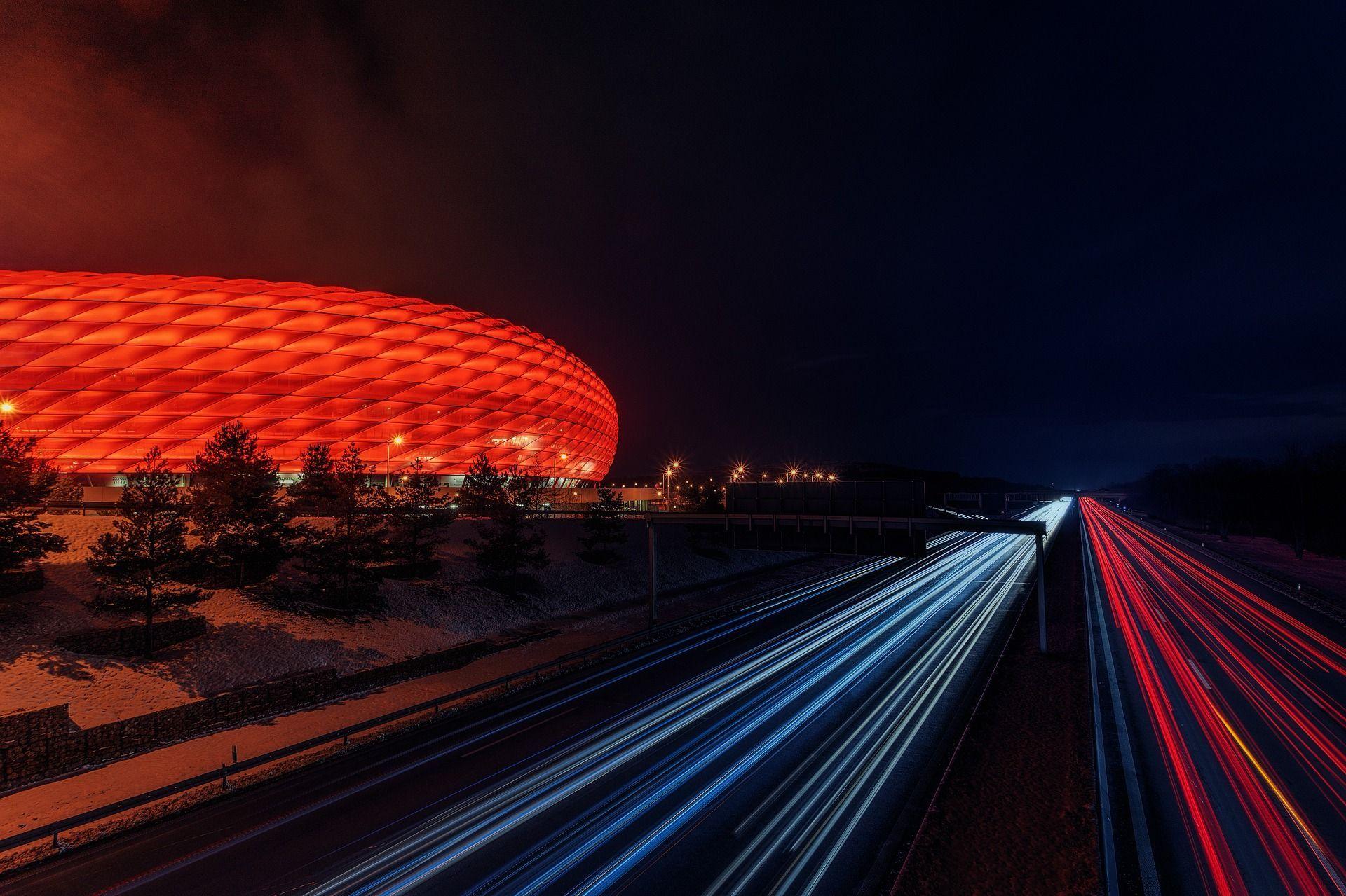 Very Cool Time Lapsed Photo Of The Baku Olympic Stadium At Night In Baku Azerbaijan Tuesdaytravel