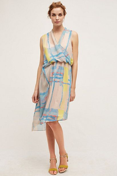 Watercolor dress anthropologie