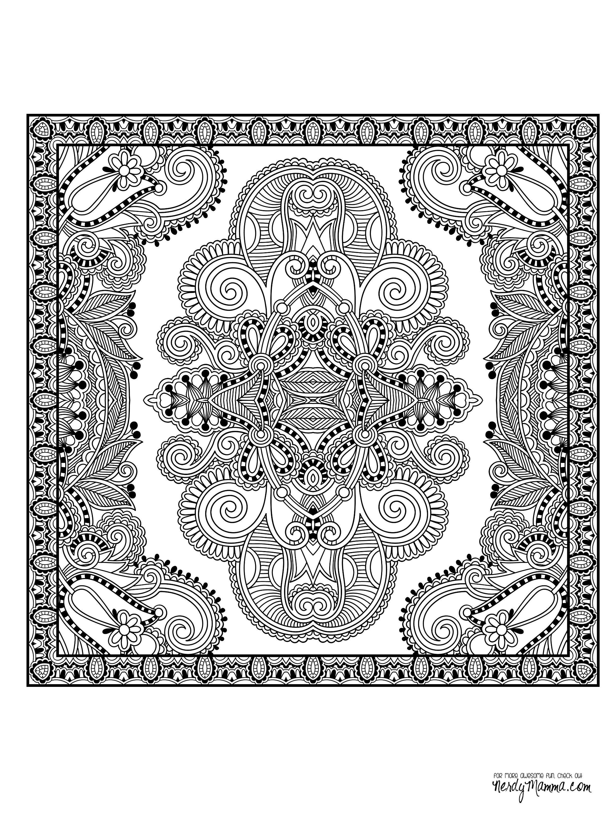 11 Free Printable Adult Coloring Pages | Mandalas y Dibujo