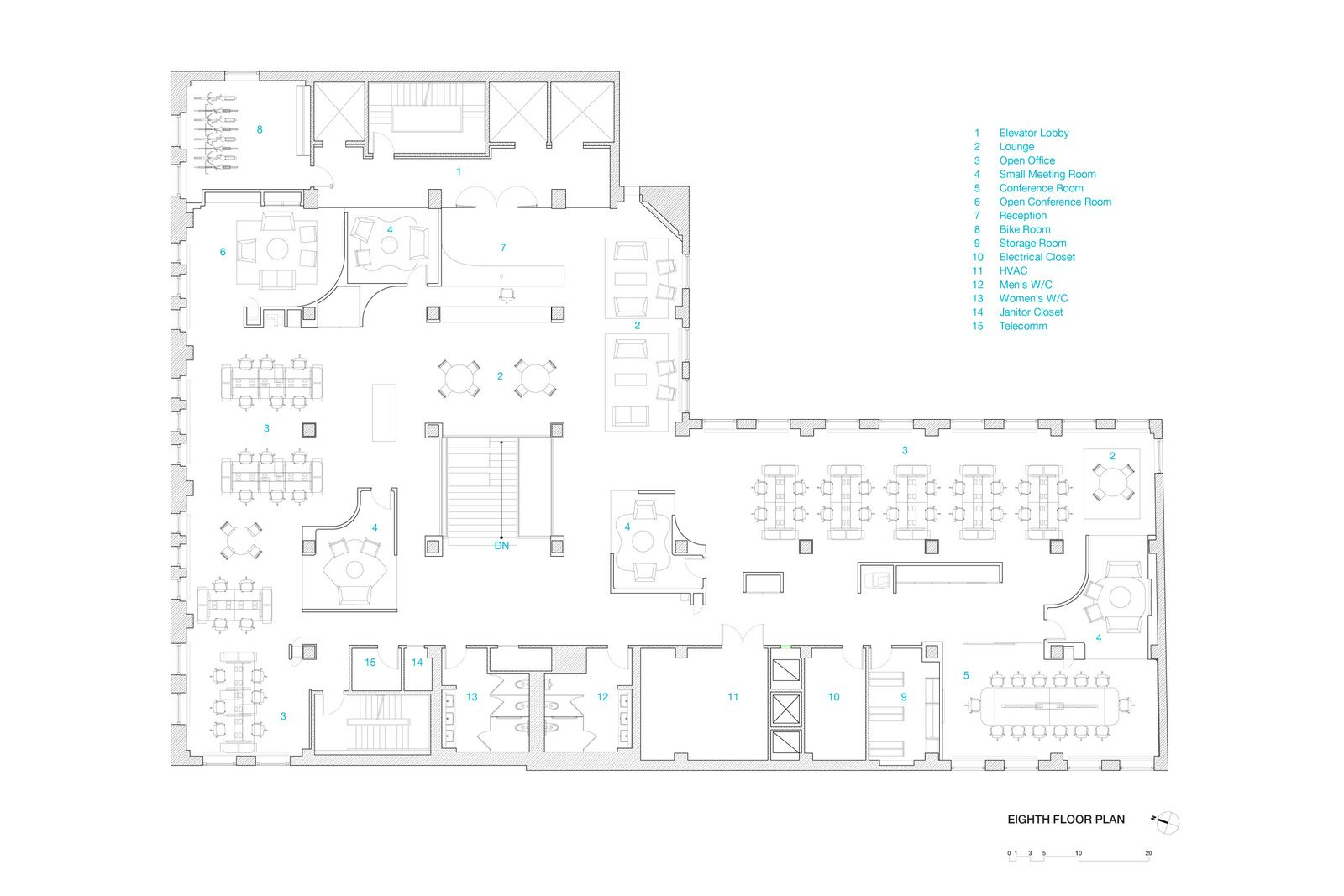 Inaba Red Bull Ny Office 7th Floor Plan 01 Office Snapshots Floor Plans Office Floor Plan Office Space Planning