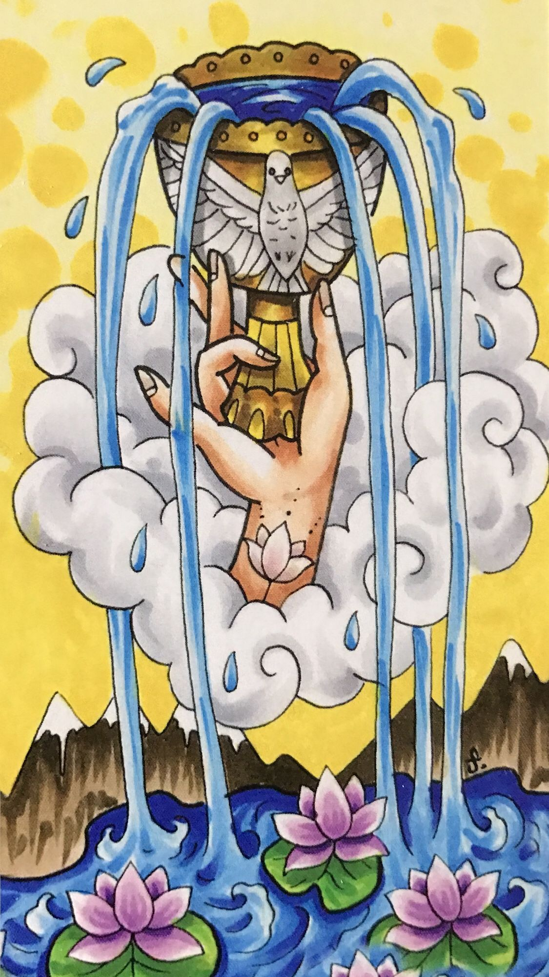 Card of the day ace of cups friday march 15 2019