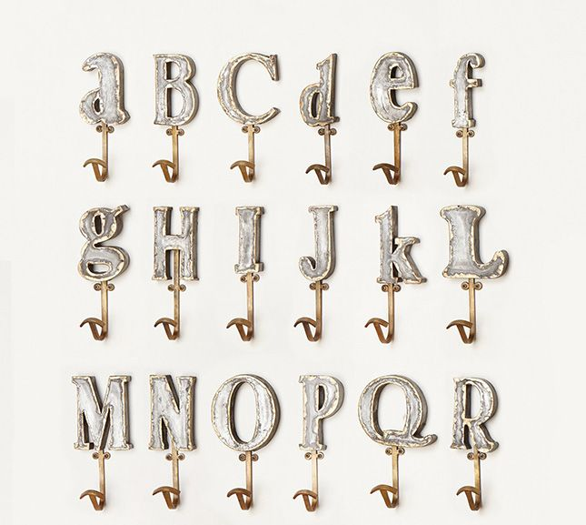 i want alz letter wall hooks would like in greek letters heavy metal home 30 ways to rock metal decor via brit co 18
