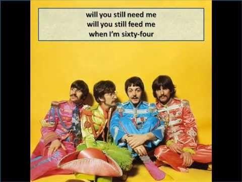 The Beatles When I M Sixty Four Lyrics The Beatles Beatles Cartoon Beatles Photos