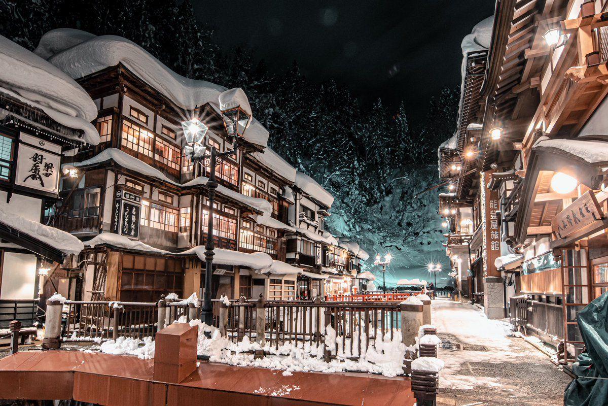 山形県の銀山温泉の写真が予想以上に千と千尋の神隠しの舞台だと話題に 2020 銀山温泉 銀山 温泉