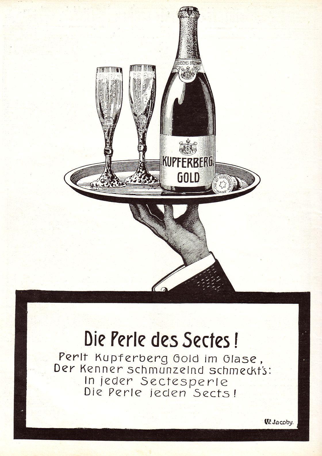 12 x Original-Werbung/ Anzeigen 1907 : KUPFERBERG GOLD SEKT | eBay