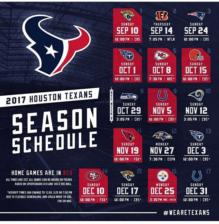 Pin by Michael Cahal on Game Time Nfl football schedule