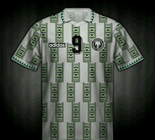 Nigeria Away Shirt For The 1994 World Cup Finals Futebol Camiseta Selecao Alema