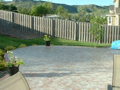 Golden CO Concrete Patio With Pigmented Sealer. A Quick And Cost Effective  Way To